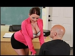 Johnny's fresh substitute teacher is one hot large-titted cutie... That Sweetheart has Johnny daydreaming about a hot fuck session in the class!!! Turns out poor Johnny wasn't dreaming entirely after all...