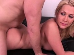 Leader kirmess Alanah Rae gets her cunt drilled coupled with takes a load be fitting of cum